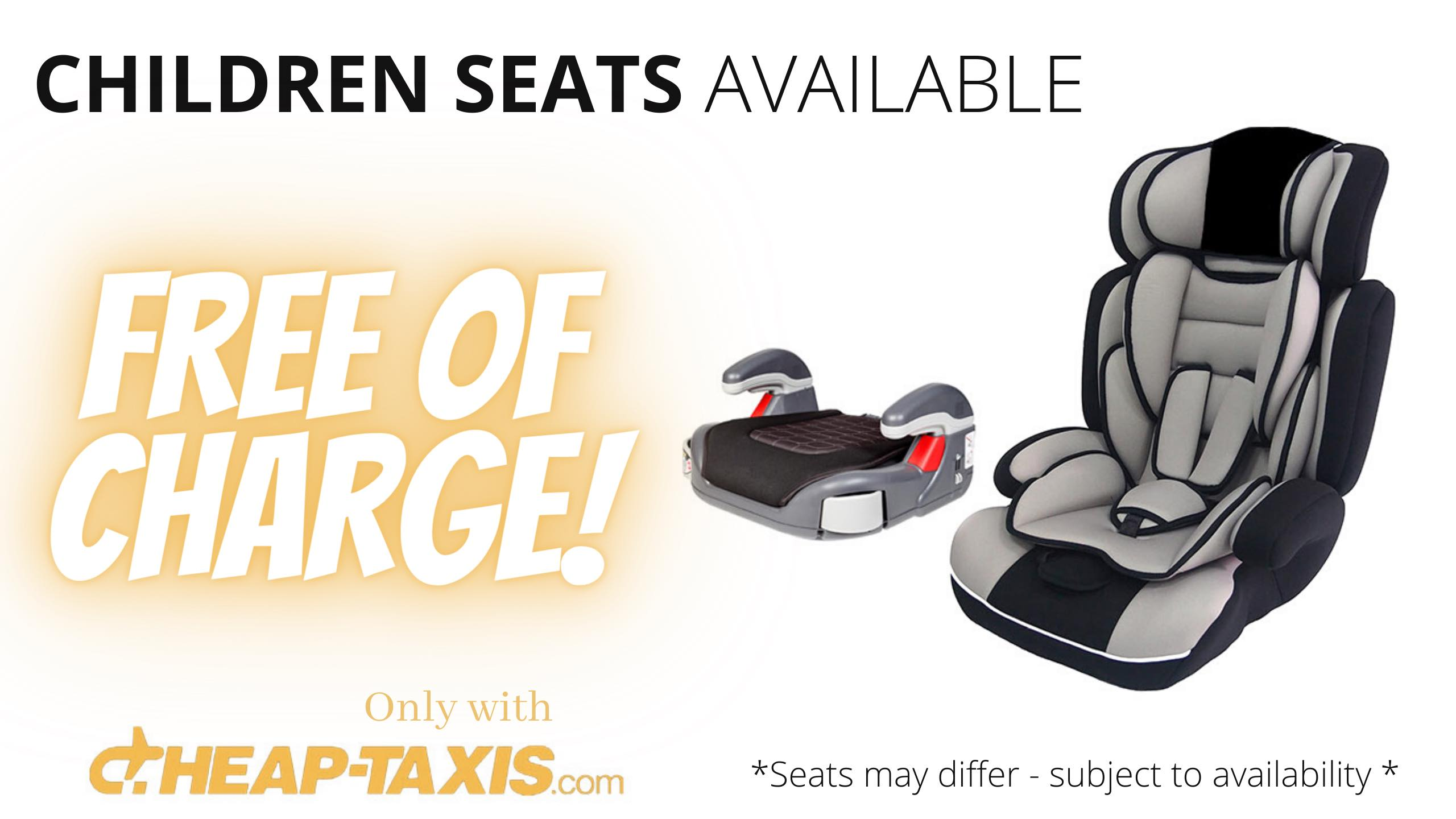 child seats are offers free of charge